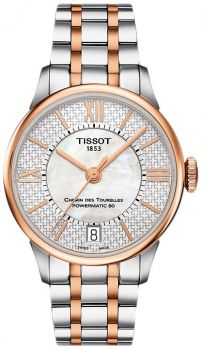 Часы наручные TISSOT T099.207.22.118.01 CHEMIN DES TOURELLES POWERMATIC 80 HELVETIC PRIDE LADY